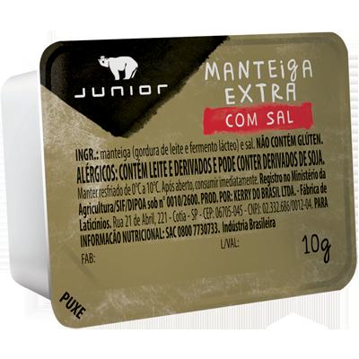 Margarina com sal blister unidades de 10g Junior UN