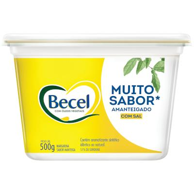 Margarina sabor manteiga com sal pote 500g Becel UN