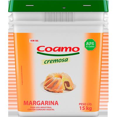 Margarina sem Sal 80% Lipídeos 15kg Coamo balde BD