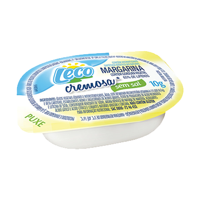 Margarina sem sal unidades de 10g Leco blisters UN