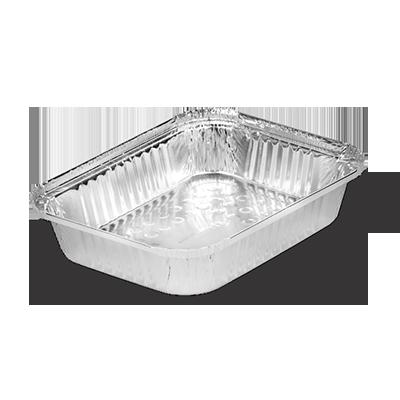 Marmitex de alumínio 1500ml com fechamento manual 100 unidades Boreda caixa CX