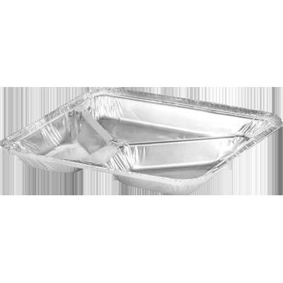 Marmitex de alumínio 3 divisórias 900ml com fechamento manual caixa 100 unidades Wyda CX