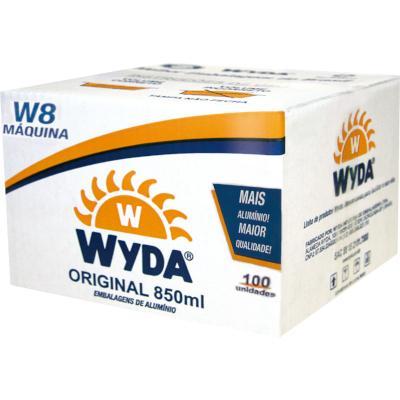 Marmitex de alumínio redonda máquina 850ml 100 unidades Wyda caixa CX