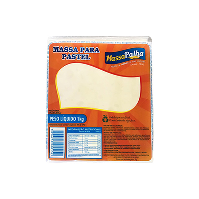 Massa de Pastel resfriada quadrada 1kg Massa Palha pacote PCT