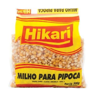 Milho de pipoca  500g Hikari pacote UN