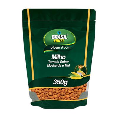 Milho torrado mostarda e mel 350g Brasil Frutta pacote PCT