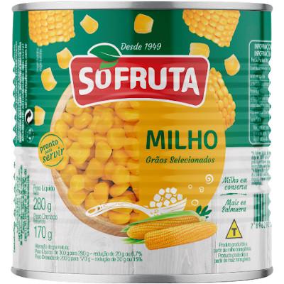 Milho Verde em Conserva 170g Sófruta lata UN