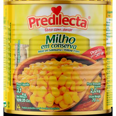 Milho Verde em Conserva 1,7kg Predilecta lata UN