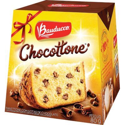 Mini Panetone gotas de chocolate 80g Bauducco Chocottone  UN