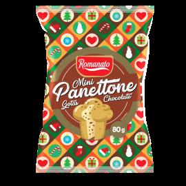 Mini Panetone gotas de chocolate 80g Romanato  UN
