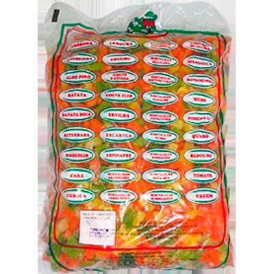 Mistura Jardineira de legumes congelado (pacote de 1 a 2,5kg) Ati-Gel por kg KG