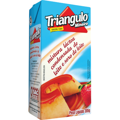 Mistura láctea condensada de leite e soro de leite 395g Triângulo Mineiro Tetra Pak UN