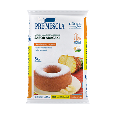 Mistura para Bolo de abacaxi 5kg Bunge Pro pacote PCT