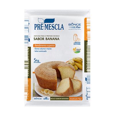 Mistura para Bolo de banana pacote 5kg Bunge Pro PCT