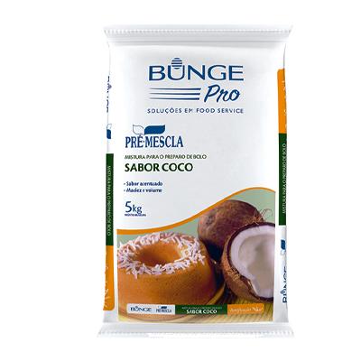 Mistura para Bolo de coco pacote 5kg Bunge Pro PCT
