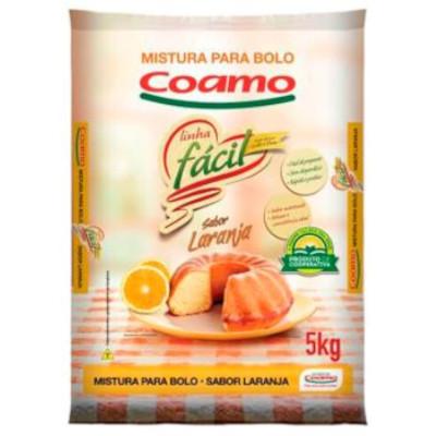 Mistura para Bolo de laranja 5kg Coamo pacote PCT