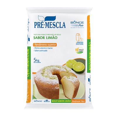 Mistura para Bolo de limão 5kg Bunge Pro pacote PCT