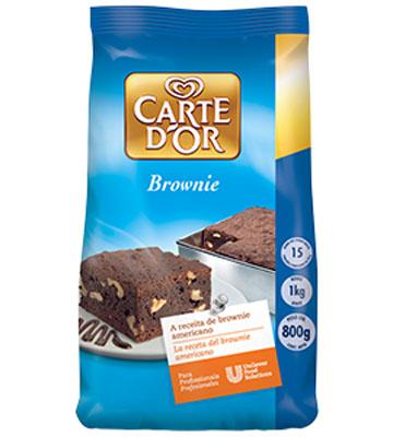 Mistura para Brownie de chocolate pacote 800g Carte D'or UN