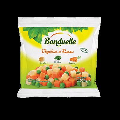 Mistura Salada Russa de legumes congelado 1kg Bonduelle pacote PCT
