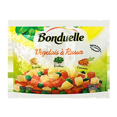 Mistura Salada Russa de legumes congelado pacote 300g Bonduelle PCT