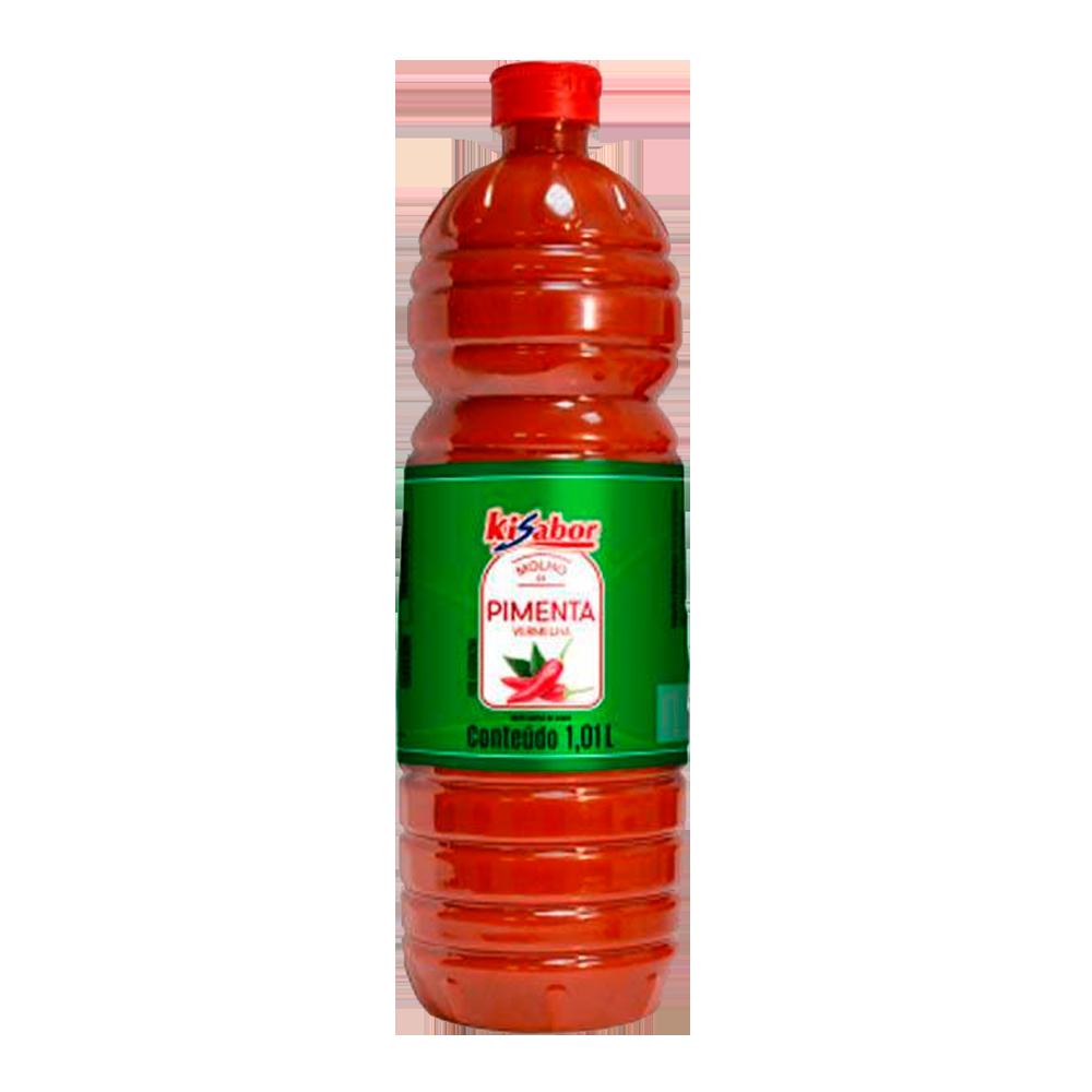 Molho de pimenta vermelha 1,010Litros KiSabor  UN