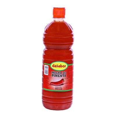 Molho de pimenta vermelha 900ml DáSabor  UN