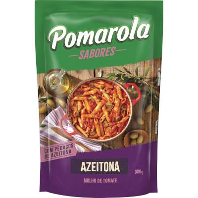 Molho de tomate caseiro com azeitona 300g Pomarola sachê UN