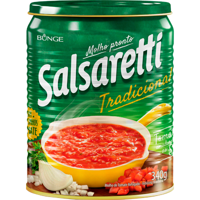 Molho de tomate  340g Salsaretti lata UN