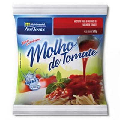 Molho de tomate pacote 500g Nutrimental UN