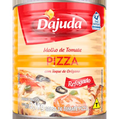 Molho de tomate para pizza 3,1kg D'ajuda lata UN