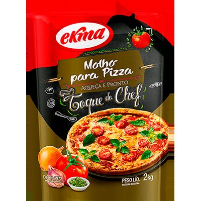 Molho de tomate para pizza 2kg Ekma pacote UN