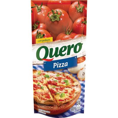 Molho de tomate para pizza sachê 340g Quero UN