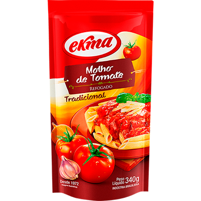 Molho de tomate refogado 340g Ekma pacote PCT