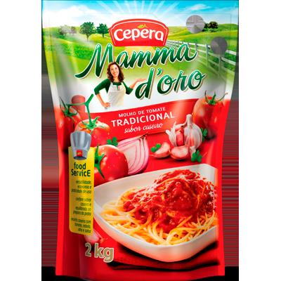 Molho de tomate  2kg Cepêra sachê UN