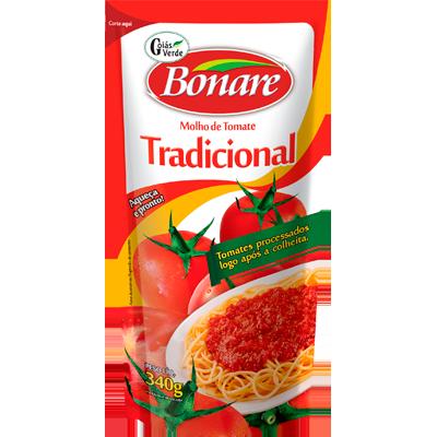 Molho de tomate  340g Bonare sachê UN