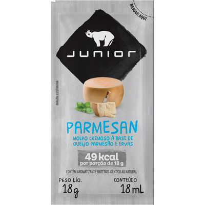 Molho salada parmesão em sachês unidades de 18g Junior UN
