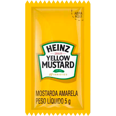 Mostarda  unidades de 5/8g Heinz em sachês UN