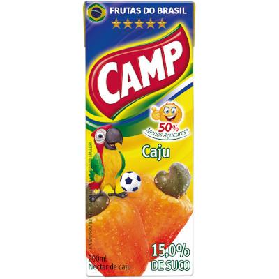Néctar de Fruta sabor cajú (suco) Tetra Pak 200ml Camp UN