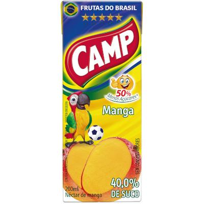 Néctar de Fruta sabor manga (suco) Tetra Pak 200ml Camp UN