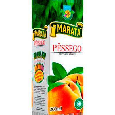 Néctar de Fruta sabor pêssego (suco) Tetra Pak 200ml Marata UN