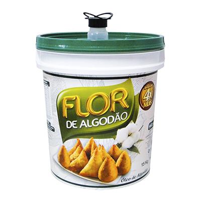 Óleo de Algodão Fritura 15kg Flor de Algodão/Cargill balde UN