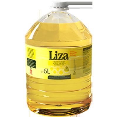 Óleo de soja  6 litros Liza galão GL
