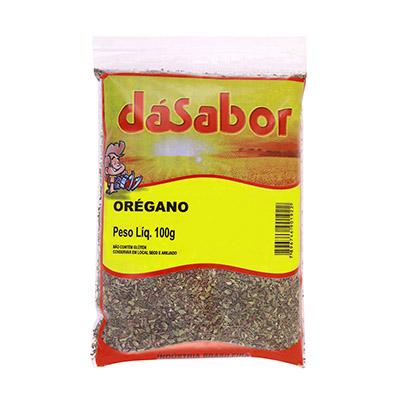 Orégano desidratado 100g DáSabor pacote PCT