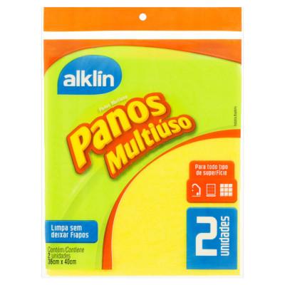 Pano de limpeza multiuso 40x36 amarelo unidade Alklin UN