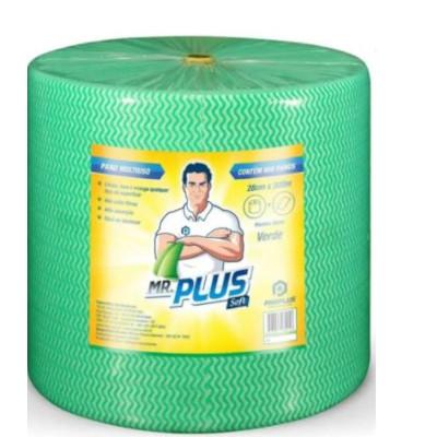 Pano de limpeza multiuso soft verde 300m rolo unidade Mr. Plus UN