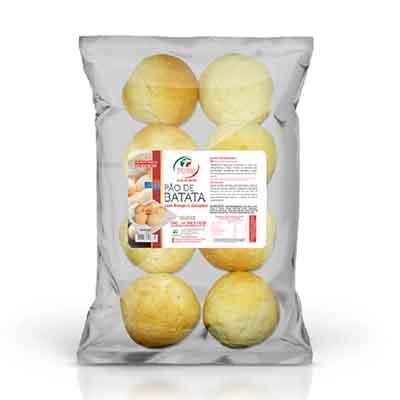Pão de batata com frango e catupiry congelado 50g 400g Trevisan pacote UN