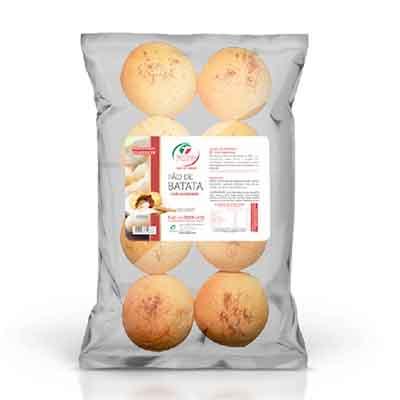 Pão de batata com goiabada congelado 50g pacote 400g Trevisan UN