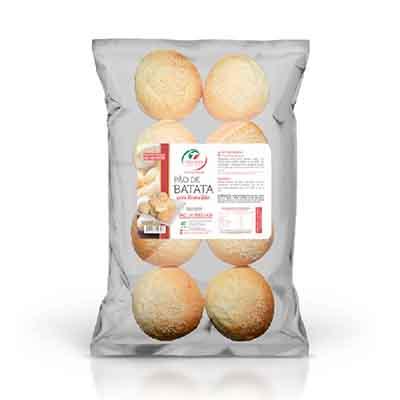 Pão de batata com requeijão congelado 50g pacote 300g Trevisan UN