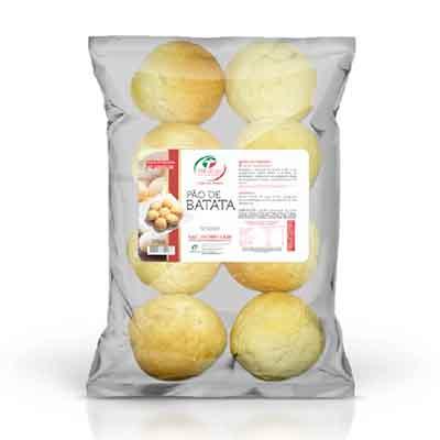 Pão de batata congelado 50g pacote 400g Trevisan UN