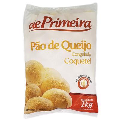 Pão de Queijo congelado 1kg De Primeira pacote PCT